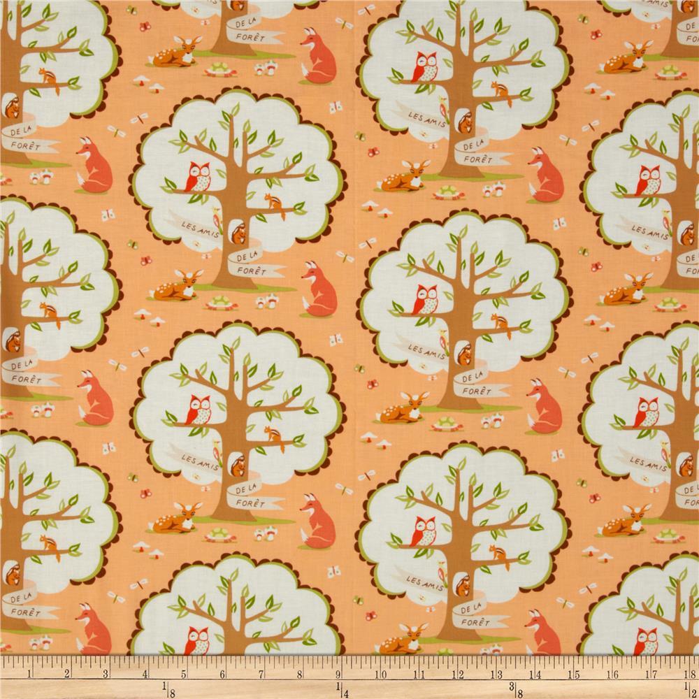 Les Amis, Fox & Trees in Peach