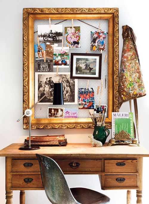 An empty frame and some chicken wire can be another solution.