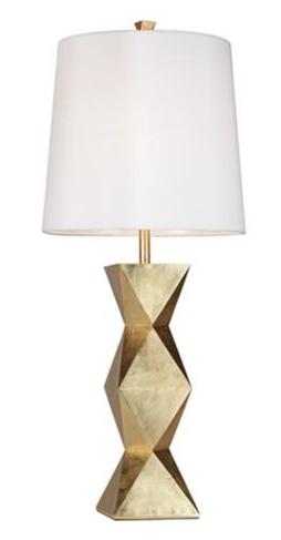 ripley gold sculptural lamp