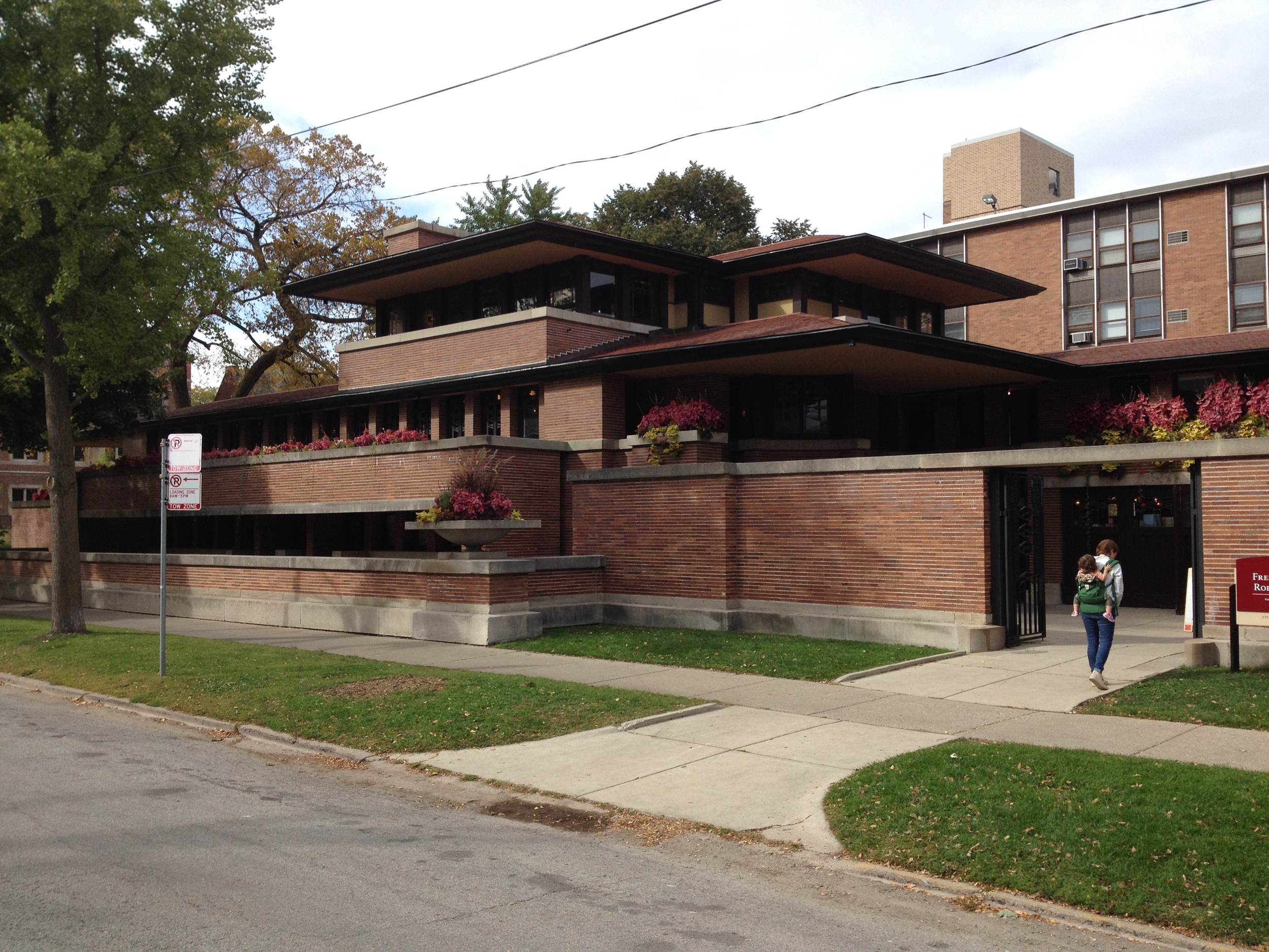 """One of Frank's most defining design traits was that he designed buildings to reflect their environment. Illinois is a """"plains"""" state, so the Robie house is flat and horizontal, like it's environment. It is much different than the very vertical, boxy, and pointy architecture of Chicago."""