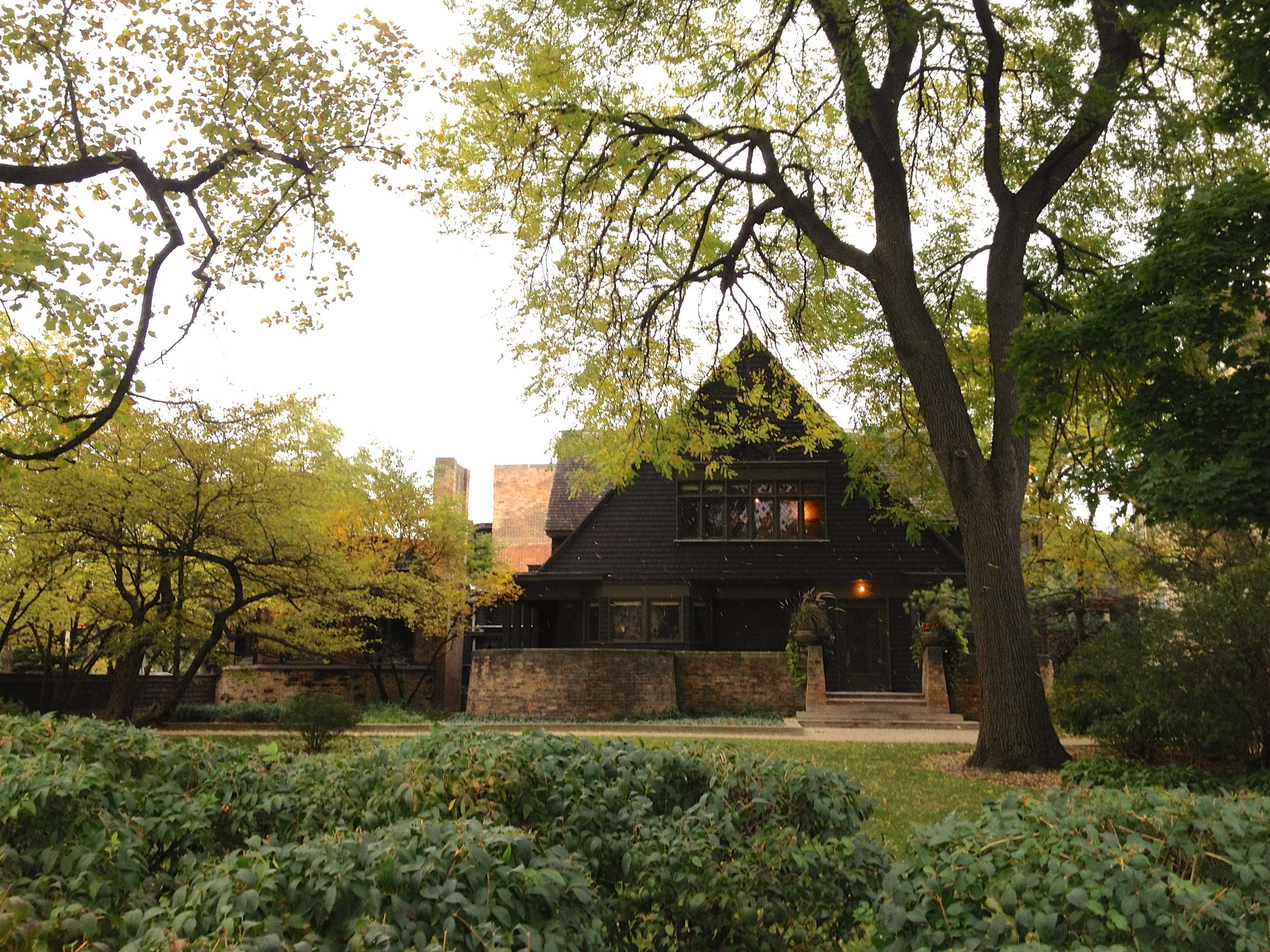 This photo is my absolute favorite from our trip. Frank Lloyd Wright's home and studio is nestled on the corner of a busy street in Oak Park, on the edge of the neighborhood, yet from this photo, you'd swear he lived tucked away in the forest. It's absolutely breathtaking.