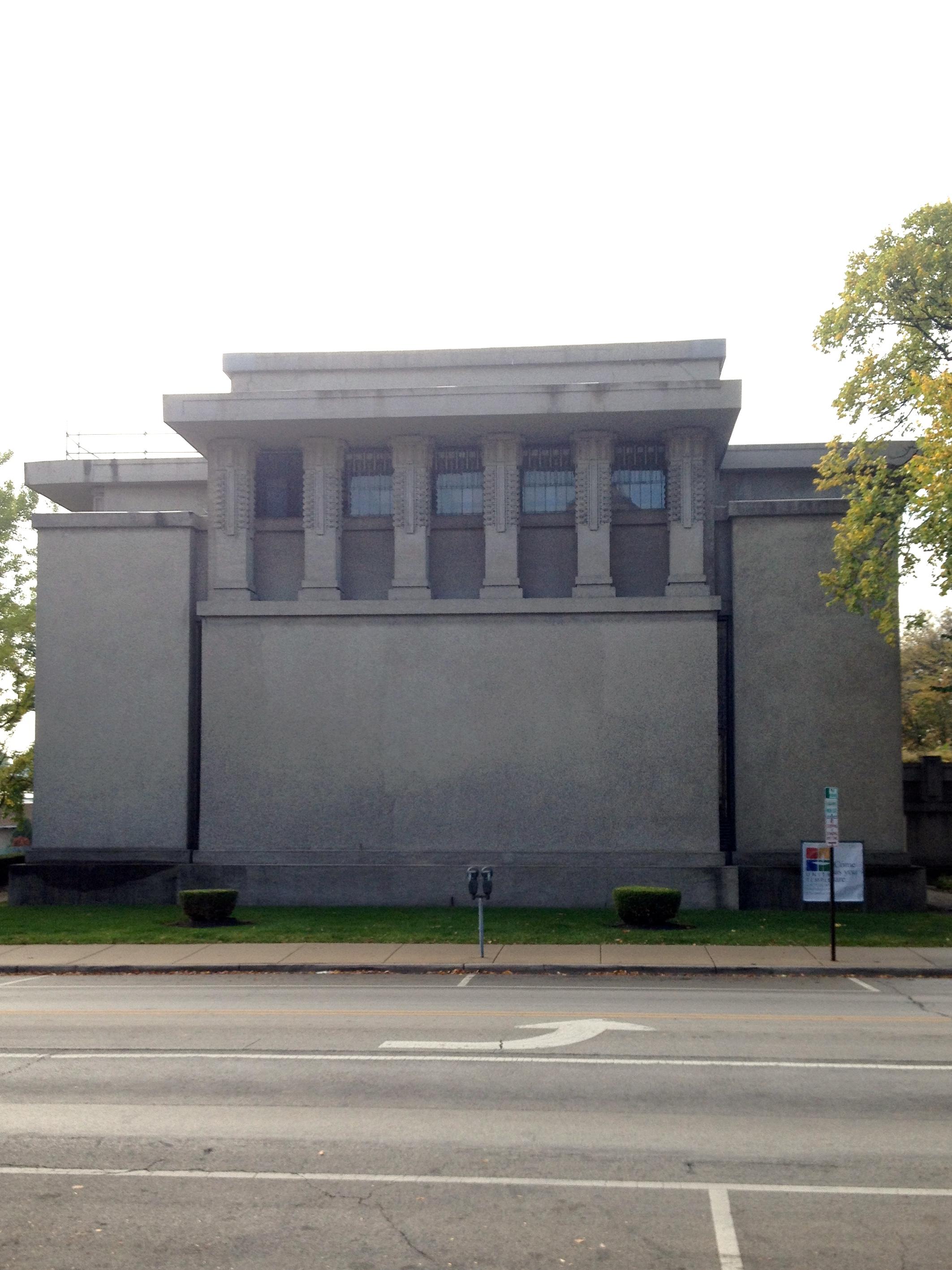 The famous Unity Temple in Oak Park