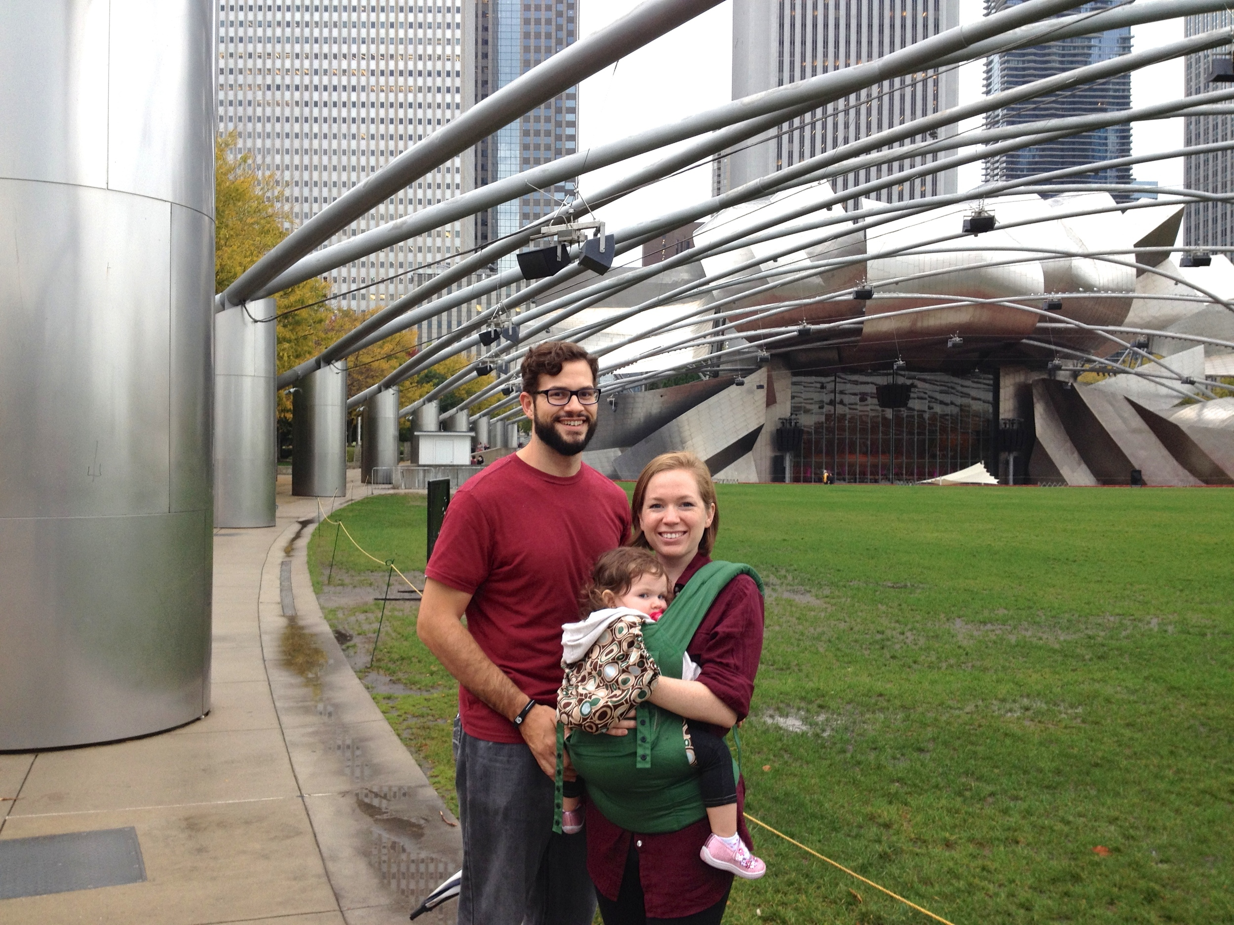 And right next door, Frank Gehry's Jay Pritzker Pavilion.