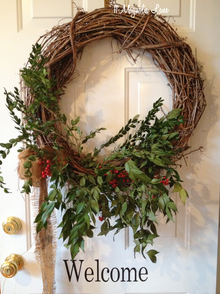 Grapevine is popular because it's easily found at craft stores. However it quickly becomes the poor target of a Pinterest DIY and it's simple beauty gets lost. Here is a great way to mix in a bit of greenery that's not overdone.