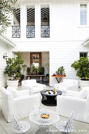 Kourtney Kardashian's patio for Domain Home.