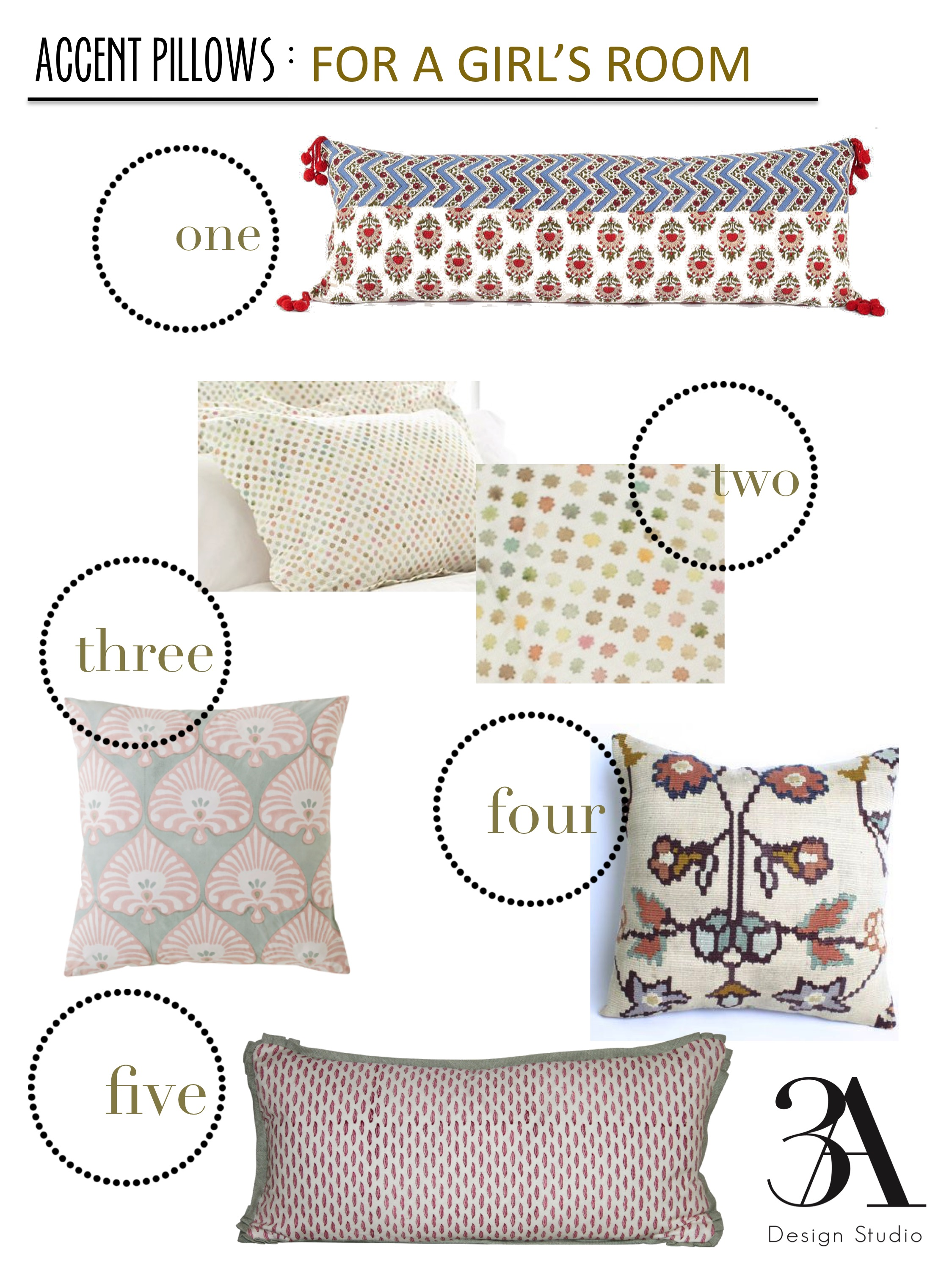 decorative pillows for a girls room