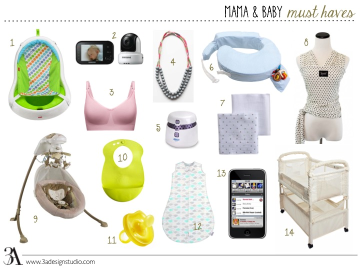 mama and baby must haves