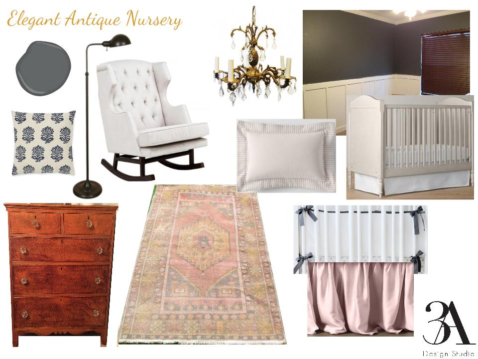 elegant vintage antique girl nursery by 3adesignstudio