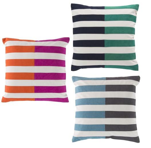 Sky Iris, Catalina Stripe Pillows
