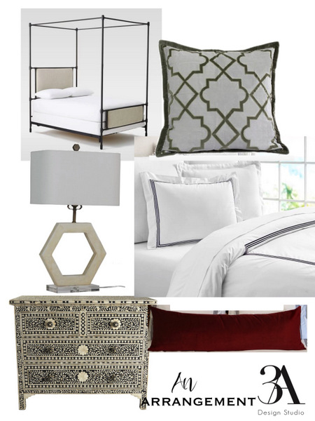 spanish revival modern bedroom
