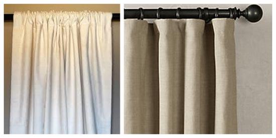 Curtain pocket vs. curtain rings