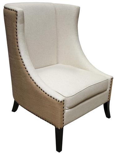 custom fabric back chair