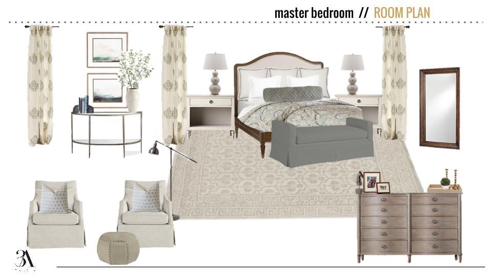 soothing neutral master bedroom mood board 3a design studio