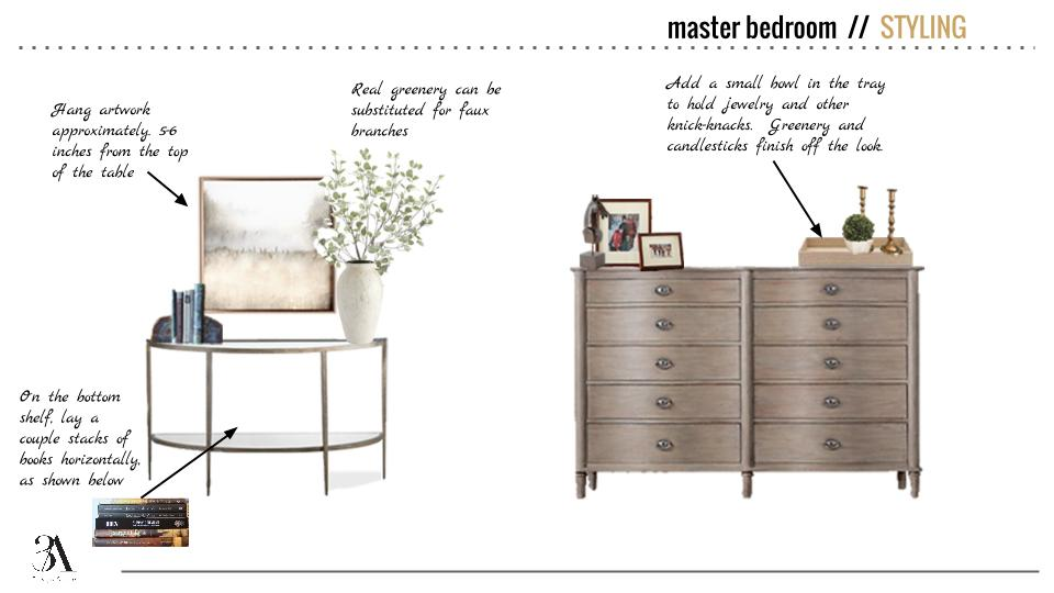 dresser and console styling 3a design studio