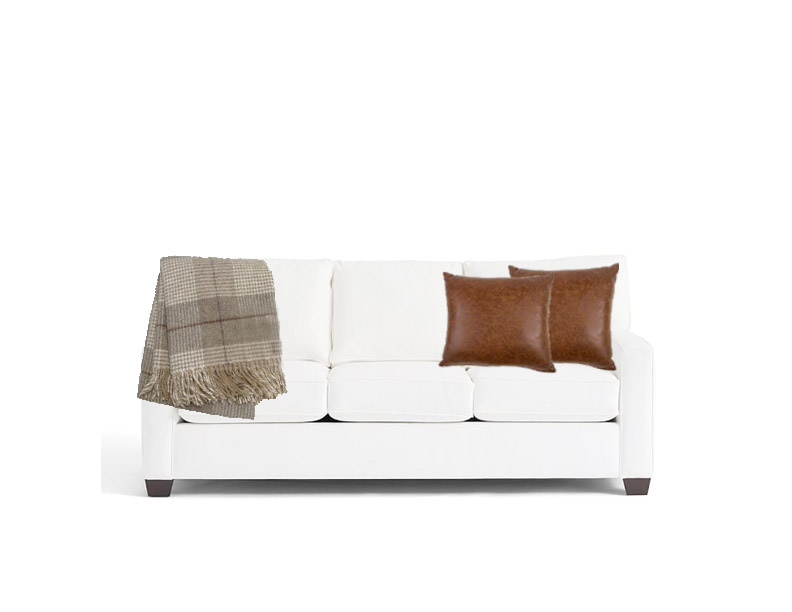 Many of the design principals found in fashion can be applied to interior design and decorating.   sofa  //   throw blanket   //  pillows
