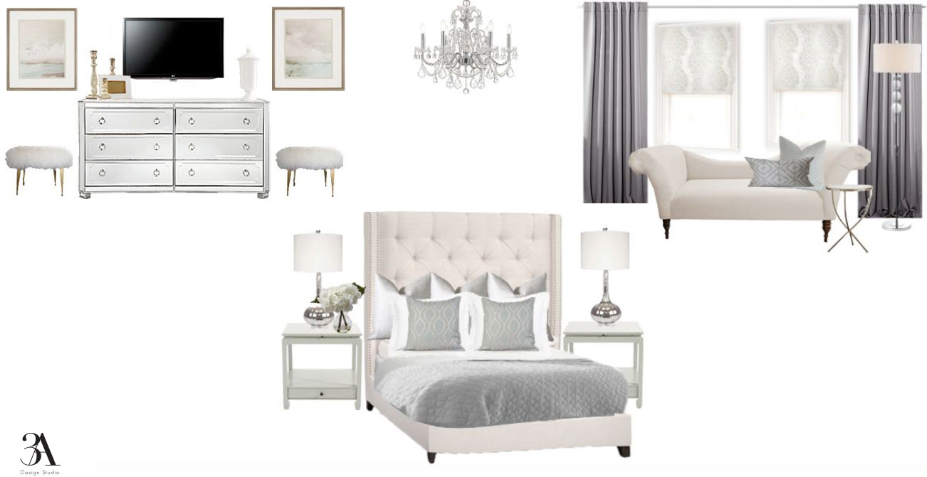 soft glam bedroom design