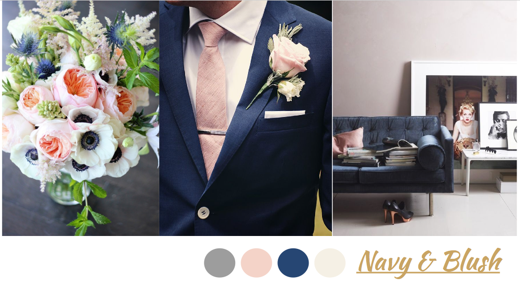 navy and blush color pallete