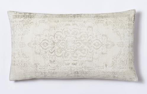 velvet arabesque pillow west elm