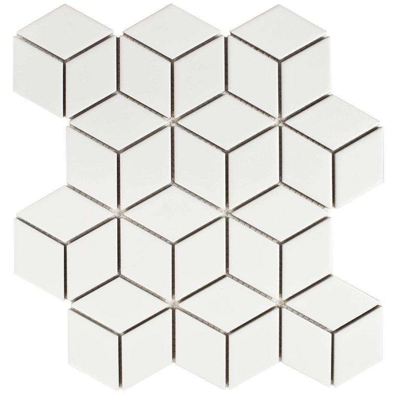 Retro+Rhombus+1.88%22+x+3.18%22+Porcelain+Mosaic+Tile+in+Matte+White.jpg