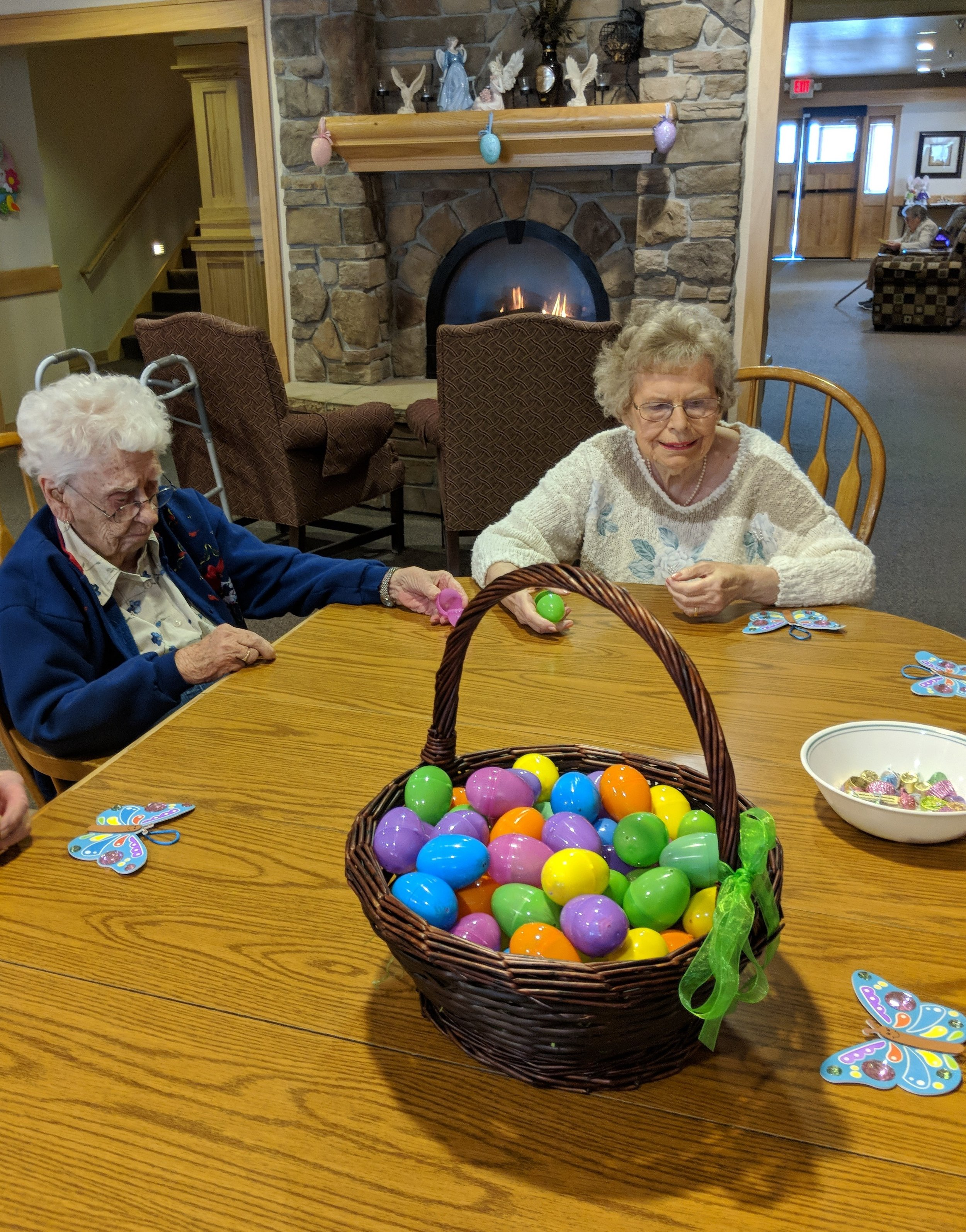 Tenants are busy filling Easter eggs 3.jpg