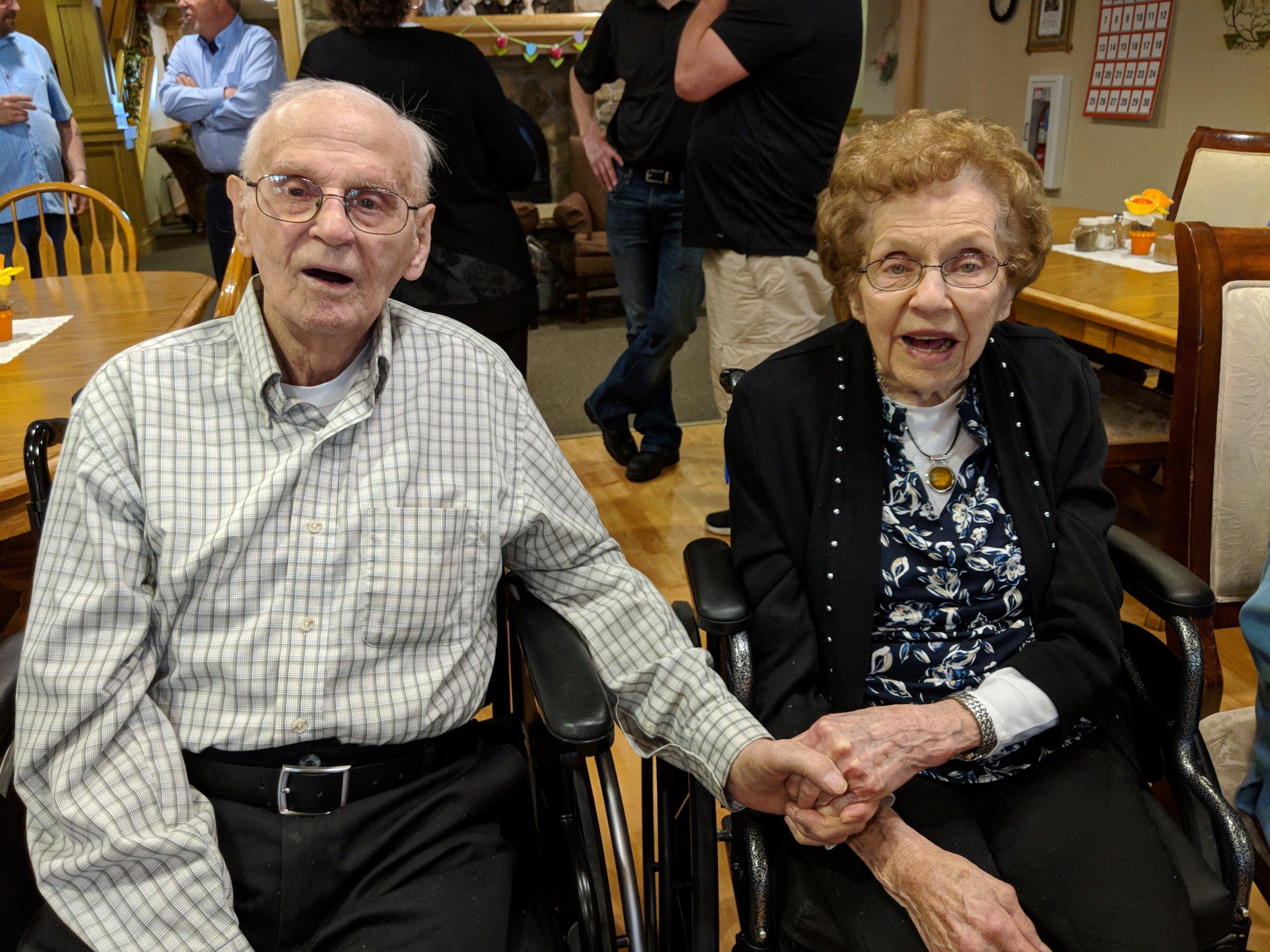 Ray & Bing's 70 wedding anniversary and Bing's 90th birthday celebration!.jpg