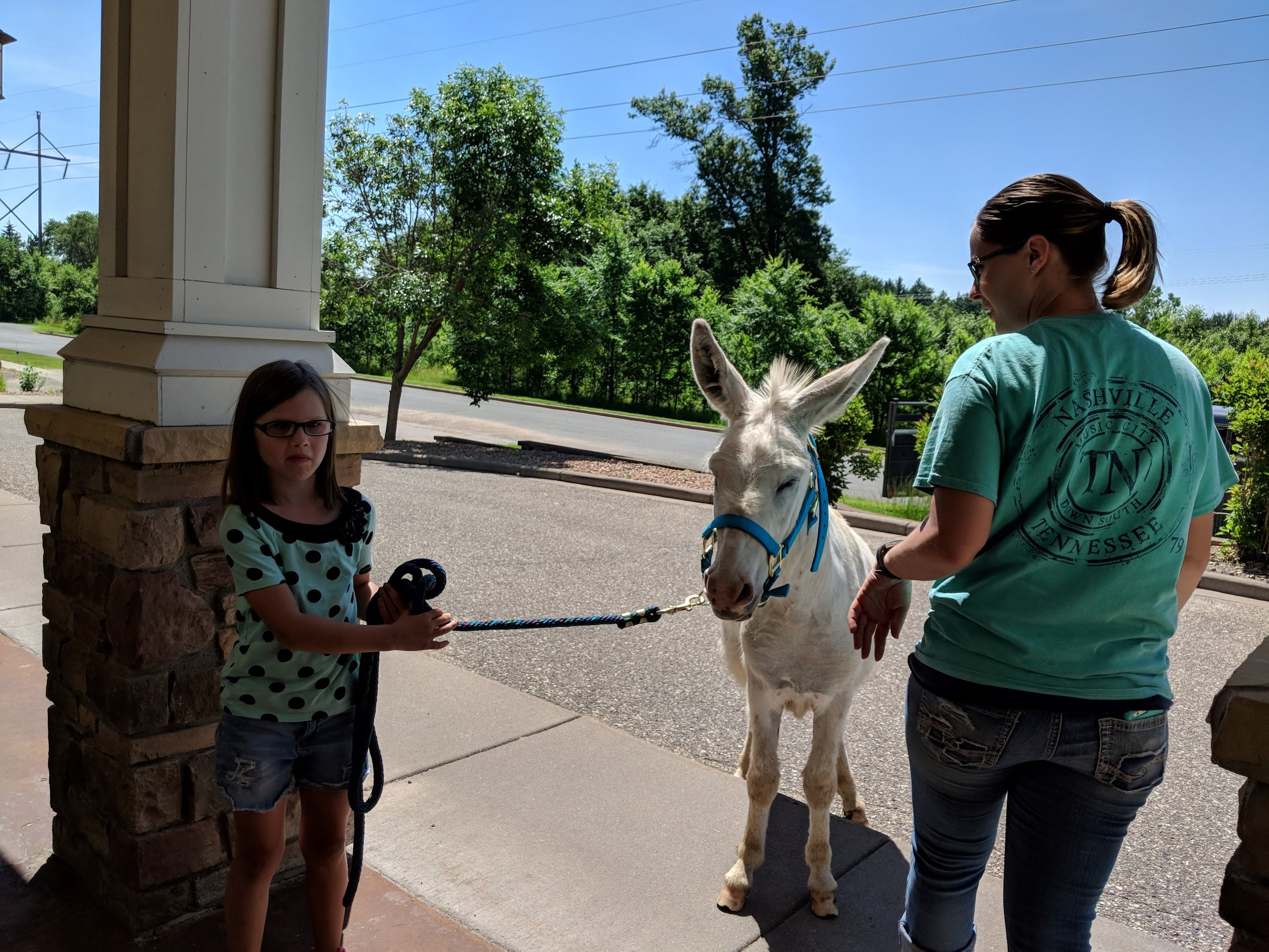 A visit from a fair calf & a donkey!! Thank you Courtney for sharing your time and animals with our tenants! 3.jpg