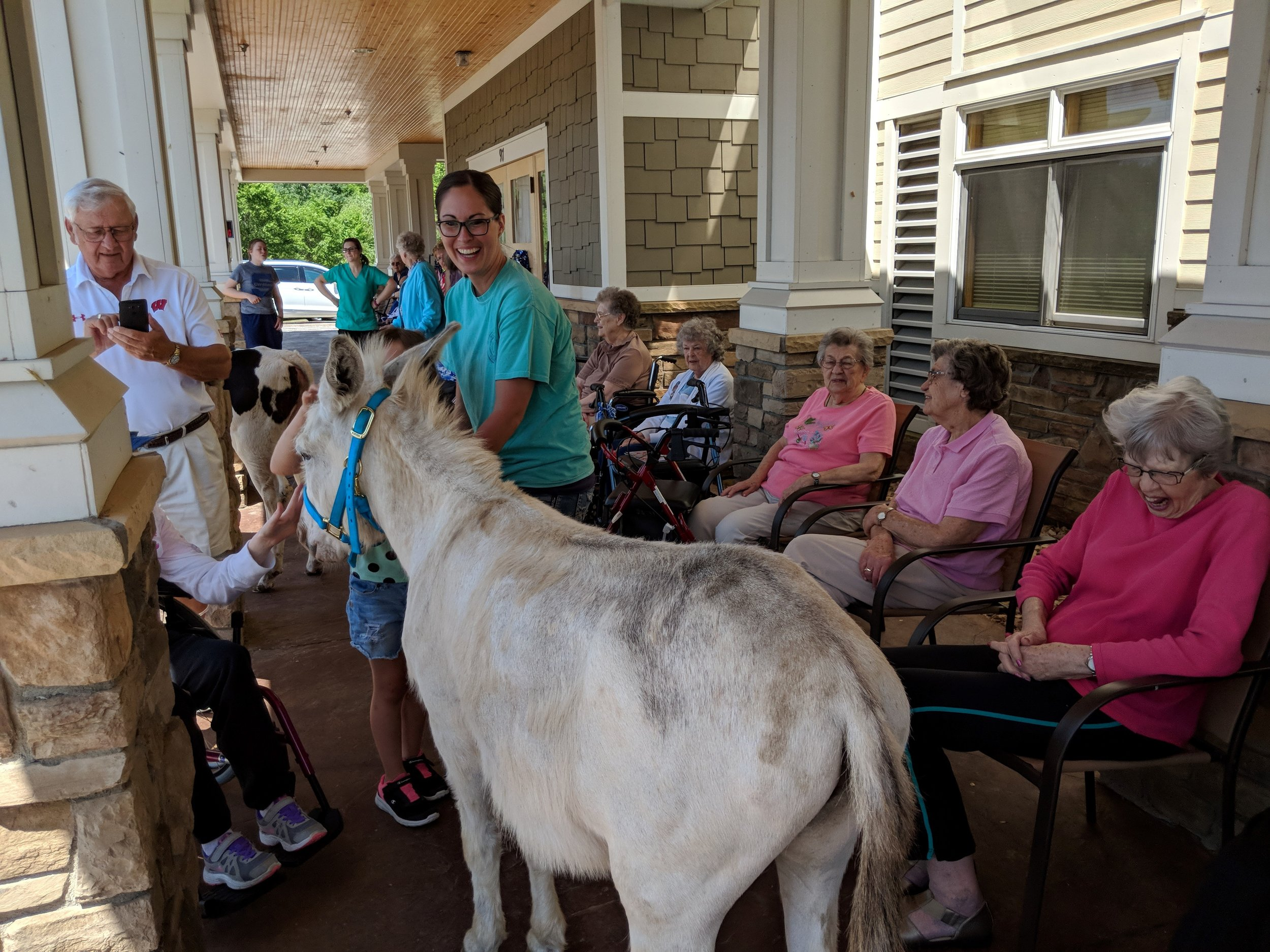 A visit from a fair calf & a donkey!! Thank you Courtney for sharing your time and animals with our tenants! 5.jpg