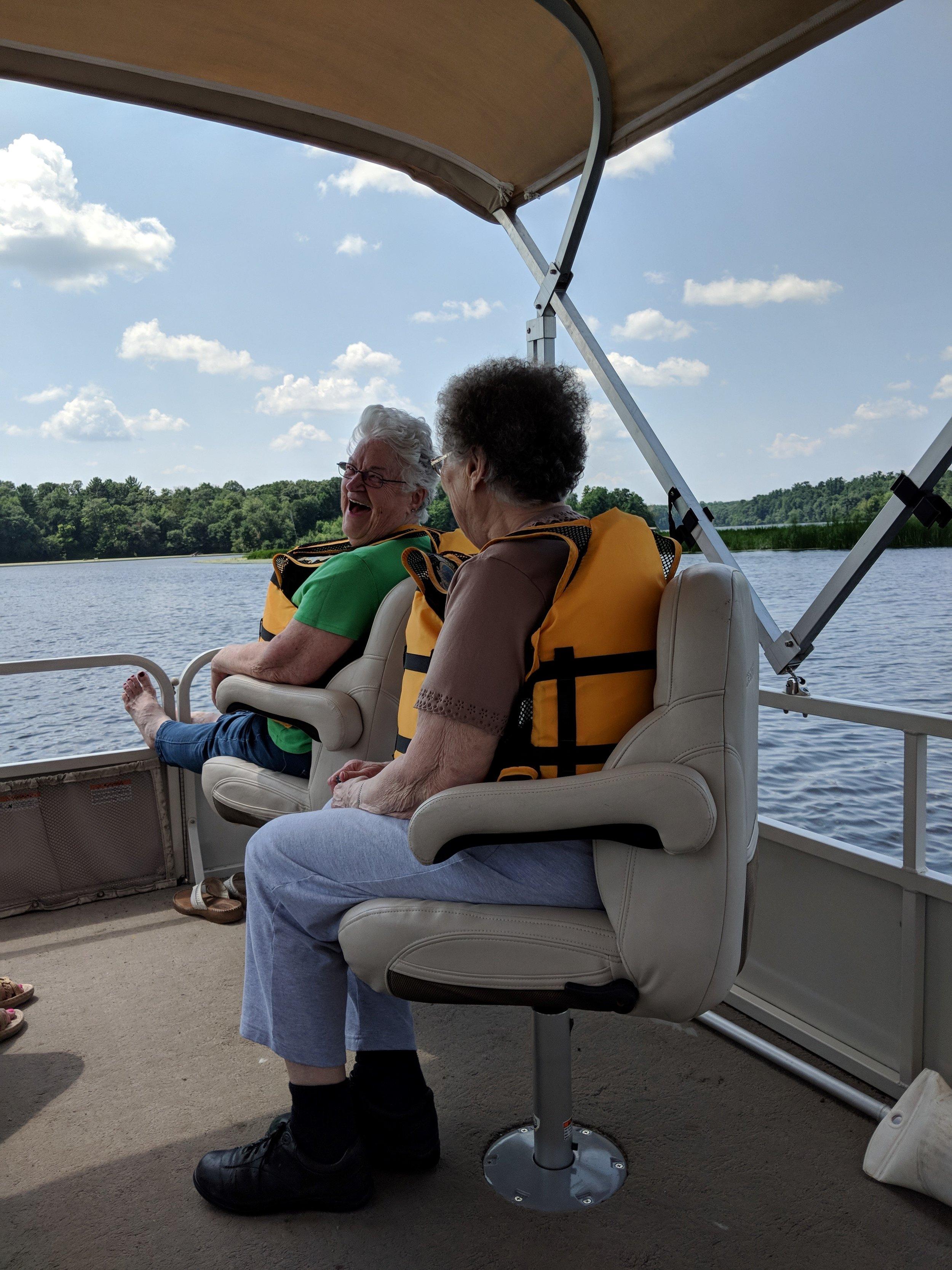 Ladies Pontoon ride on the Red Cedar River. 2.jpg