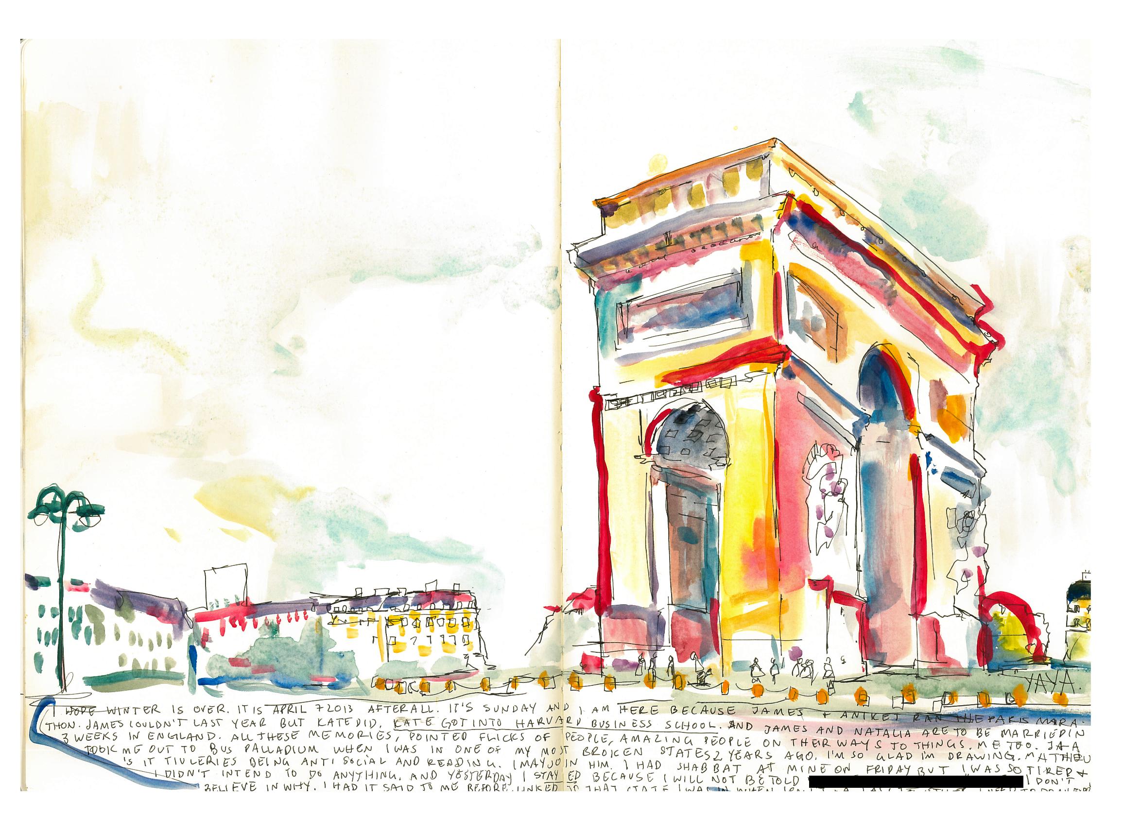 L'arc de Triomphe - Paris Marathon