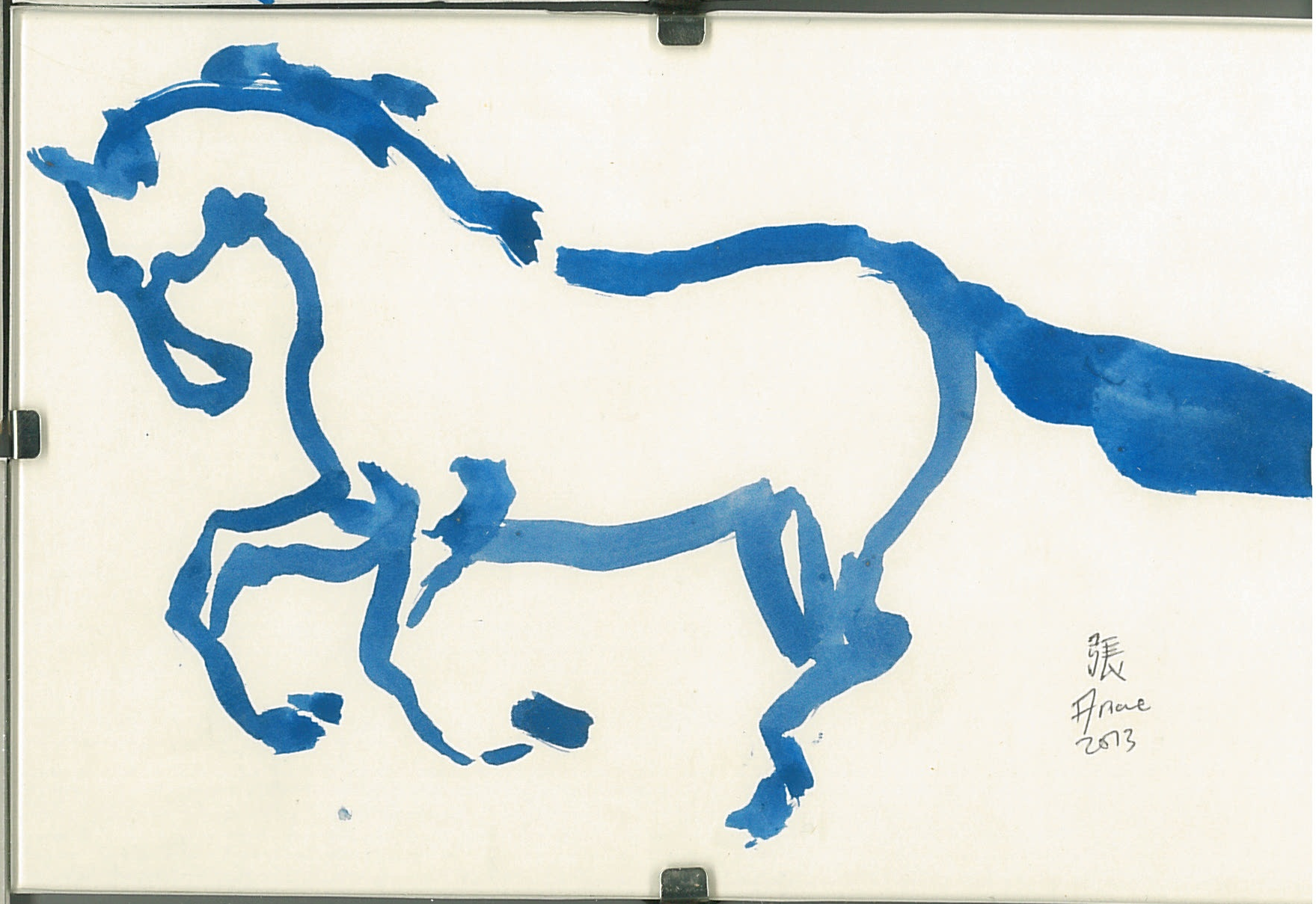 Horse in Blue series