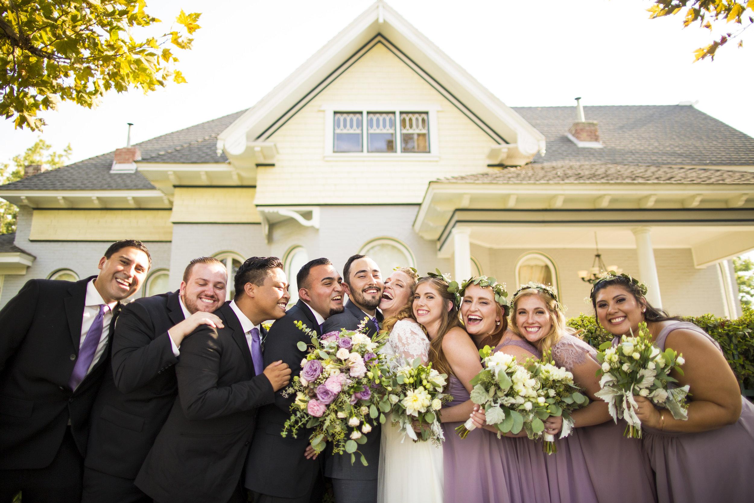 Pierce Wedding Bridal Party Noriega House Bakersfield