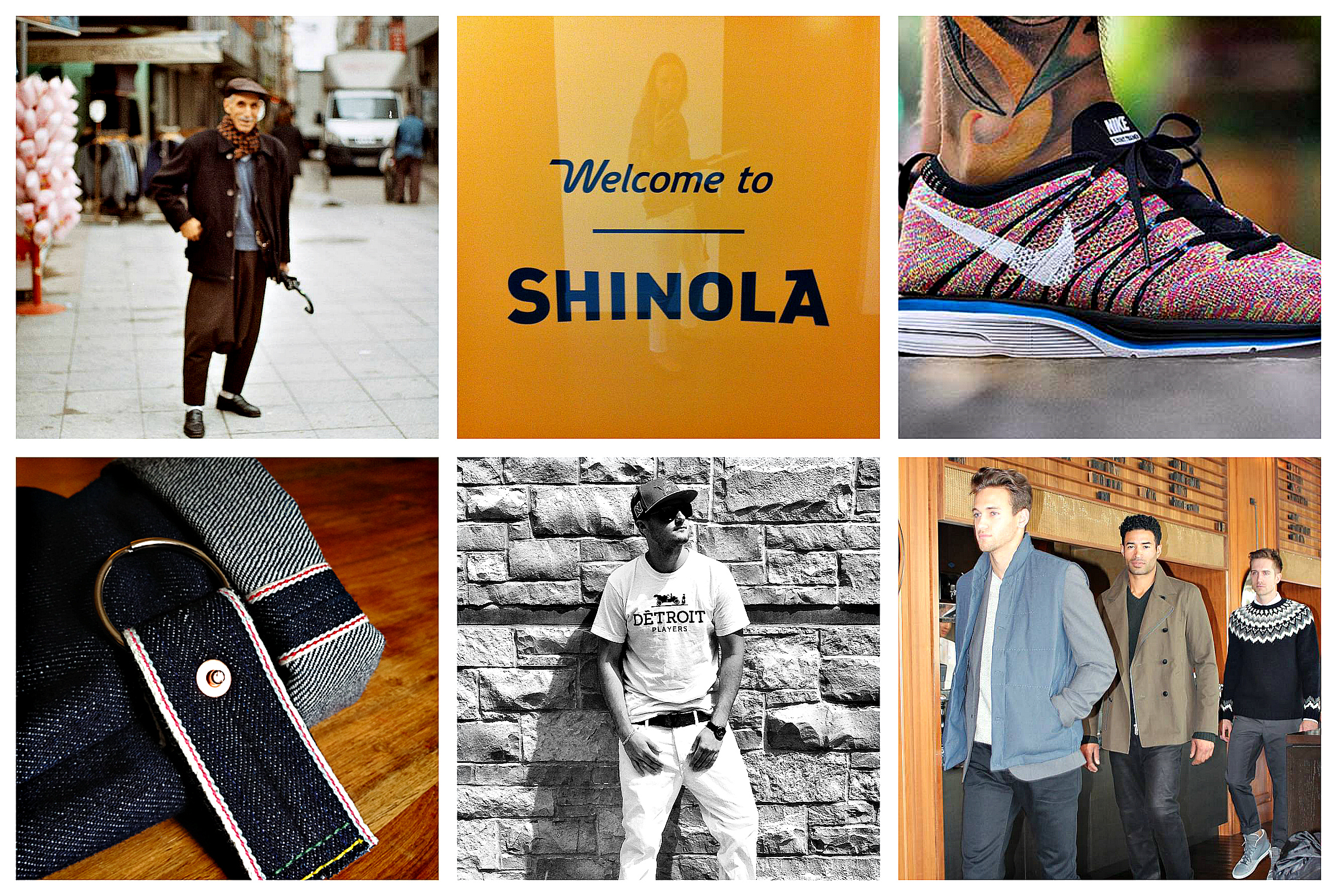 1 // gentleman, Istanbul. from  atlin's  upcoming book  s  hape of an ear    2 // my visit to  shinola  hq  3 //  high snobiety's  perfect capture of the nike flyknit+ multicolor  4 // The 16 yr old behind  unwashed denim   5 // briggs goldberg's  détroit players  tee 6 // fall13 preview with vince