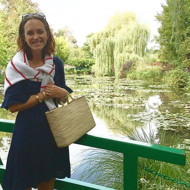 The Palma Box Tote making an appearance last week at Giverny, the spectacular home & gardens of Claude Monet 🌺