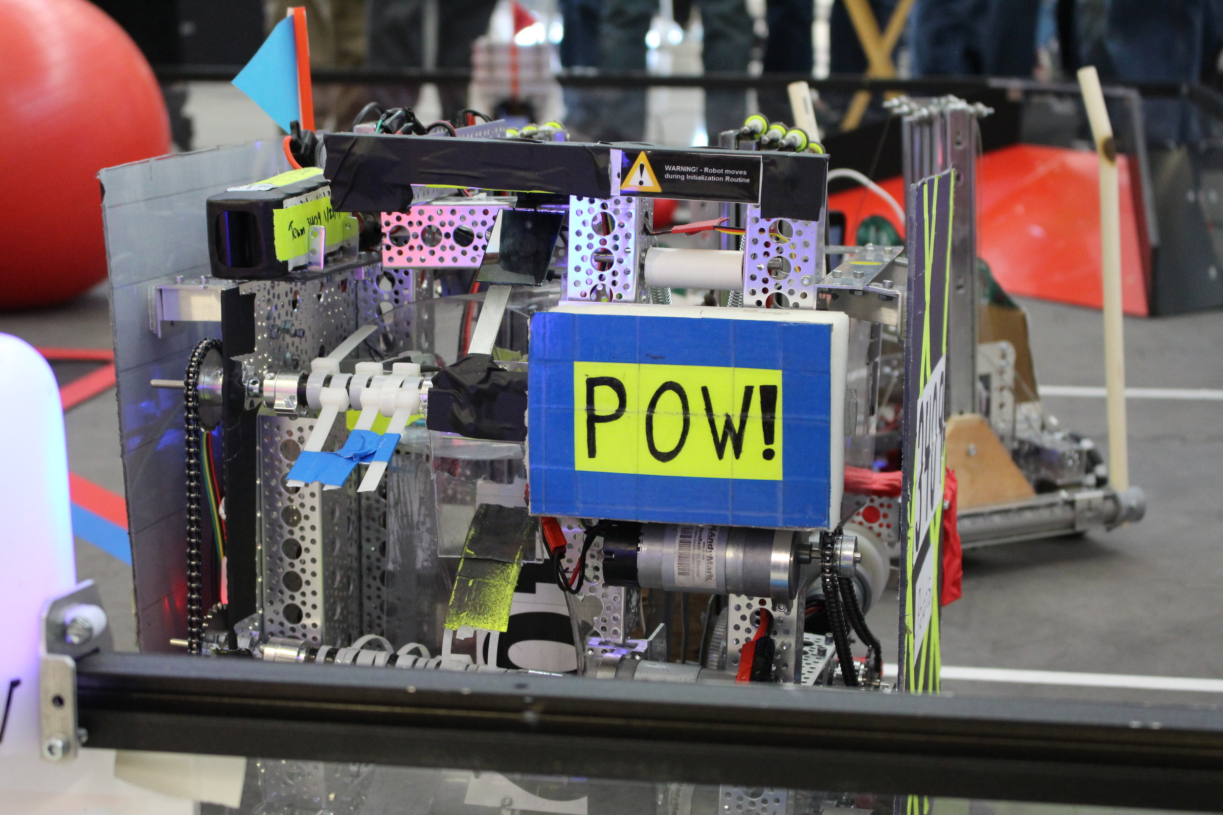 We named this robot Polaris, it helped us perfect the button pusher and the shooter. This robot got us to the state championship.