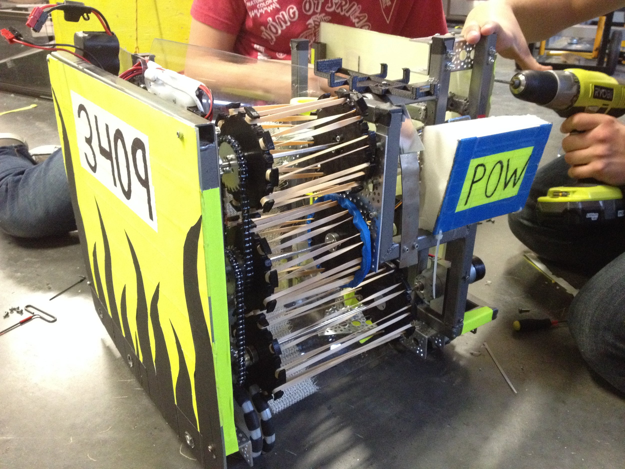 We have named this robot Nova, it is out final robot for the season.
