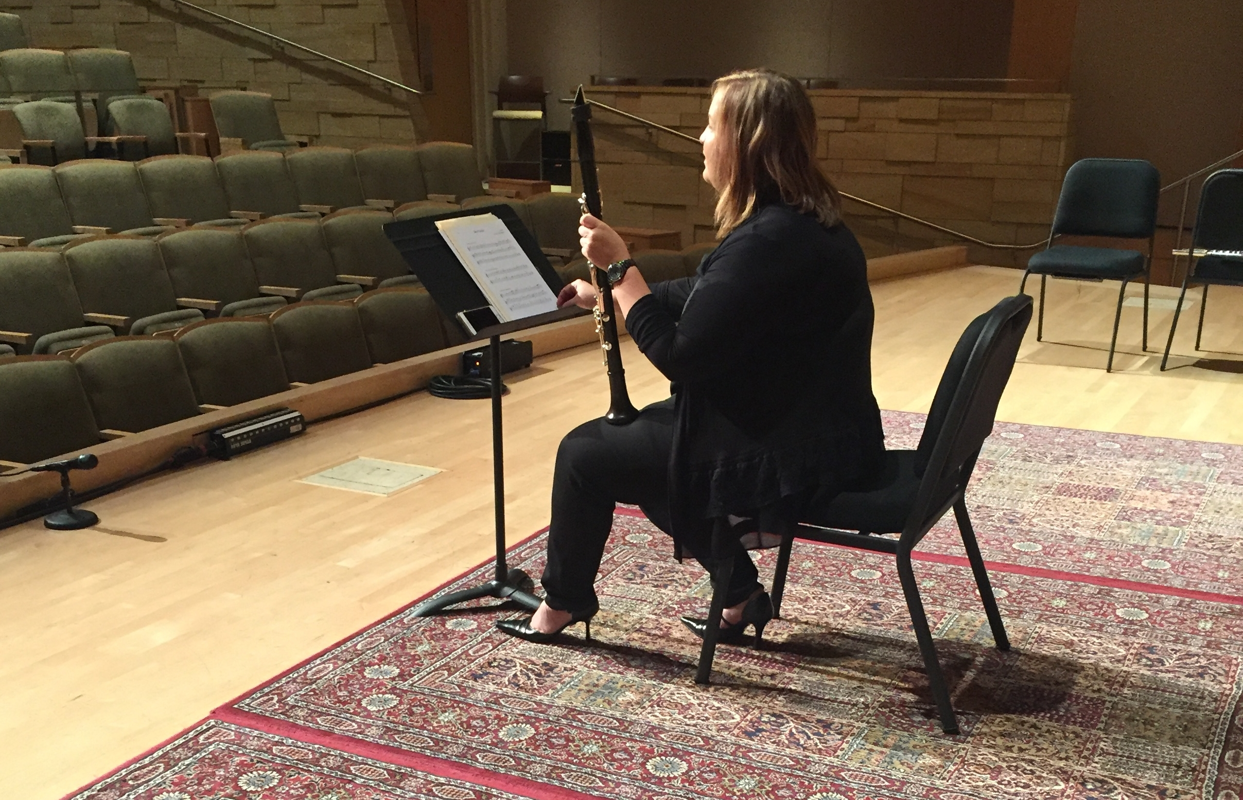 Katie recording at the Musical Instrument Museum, June 2017.