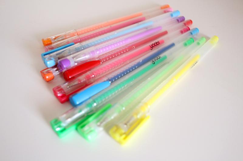 Gel pens from Target