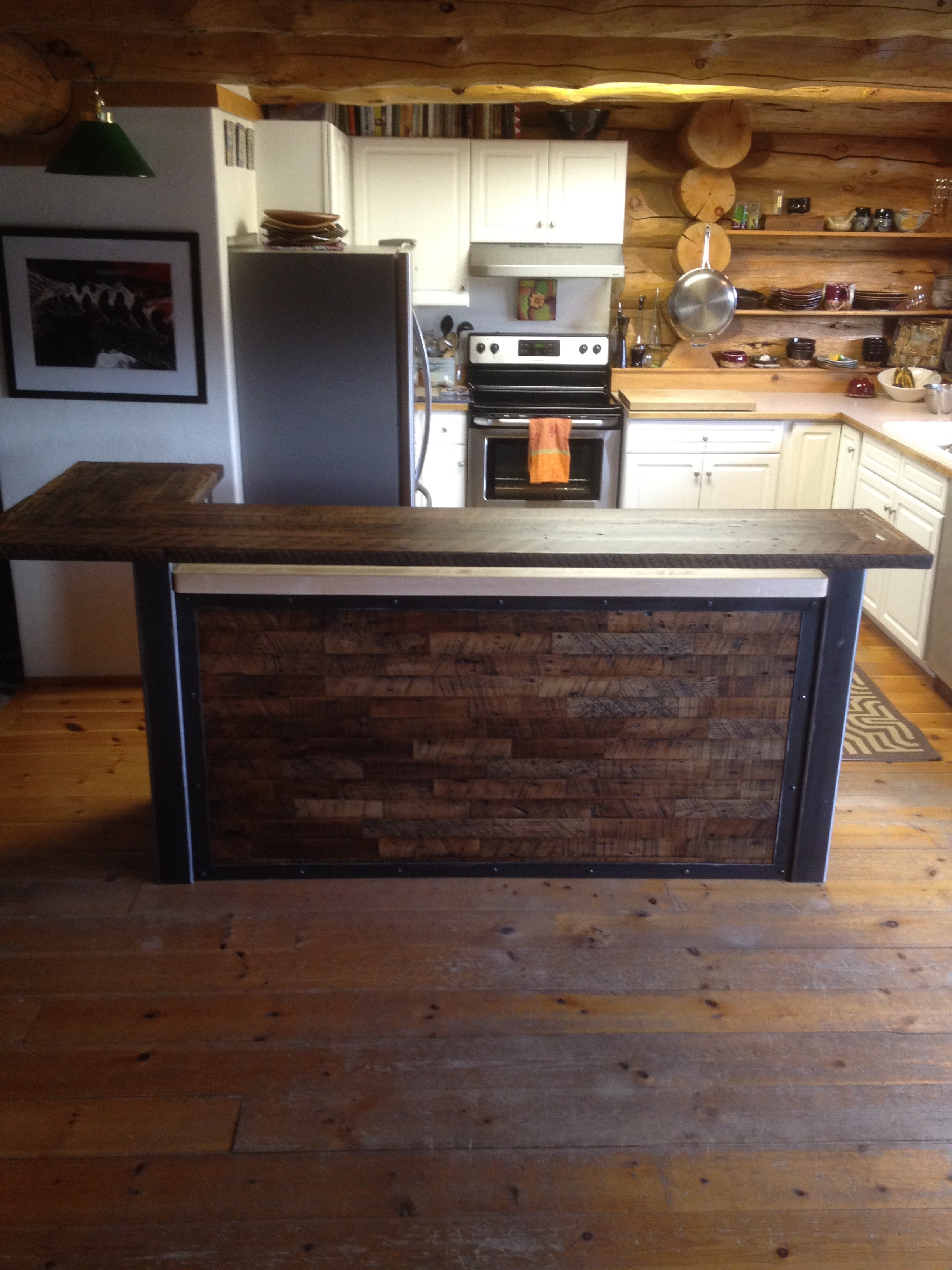 Custom Kitchen with Reclaimed Wood