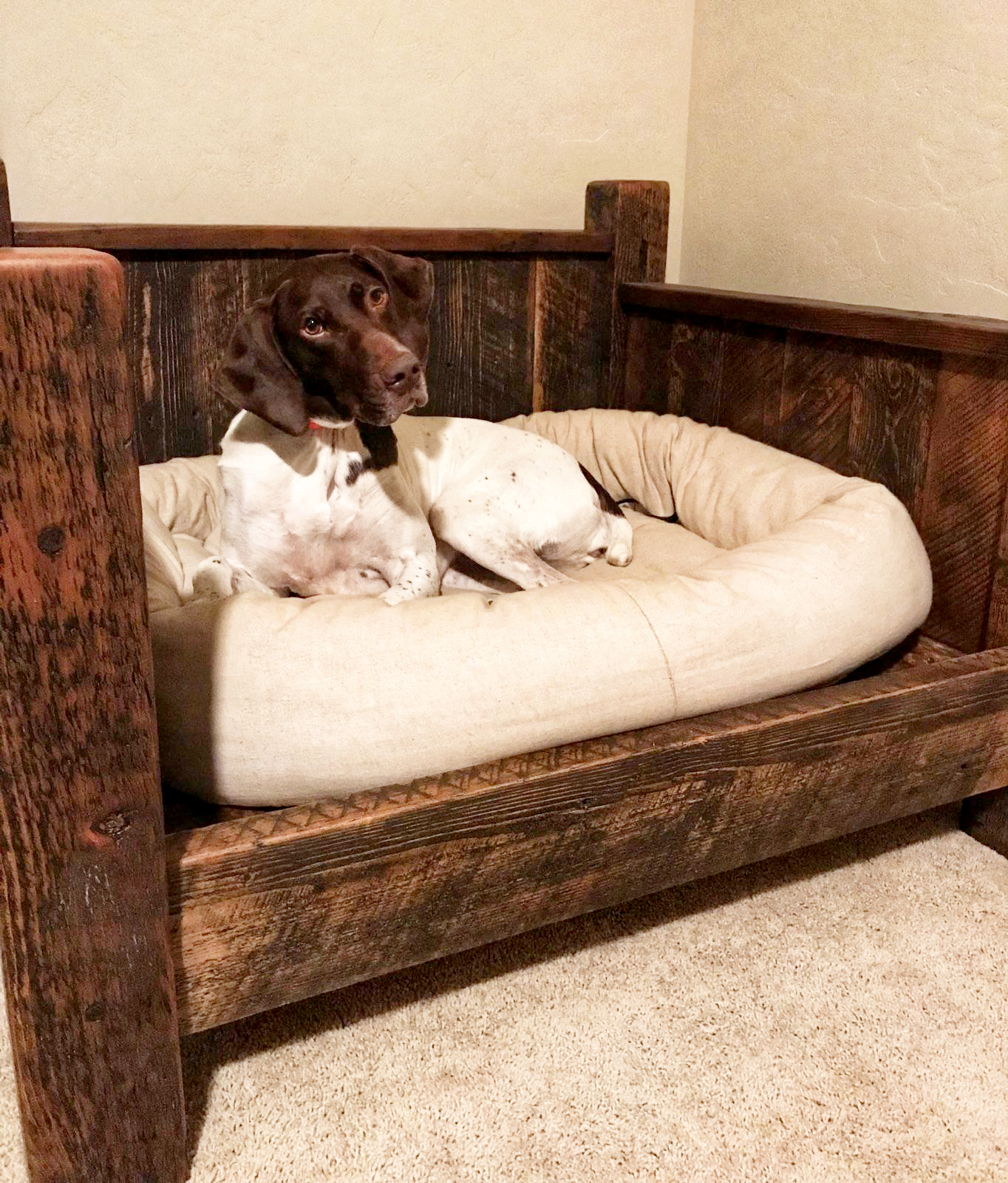 Barnwood Dog Bed