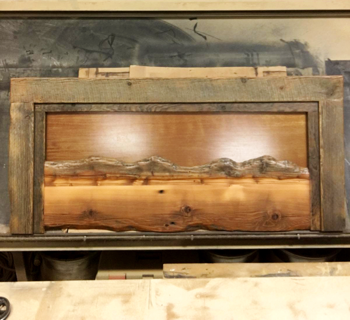 Headboard w/ Mountain Range Inset