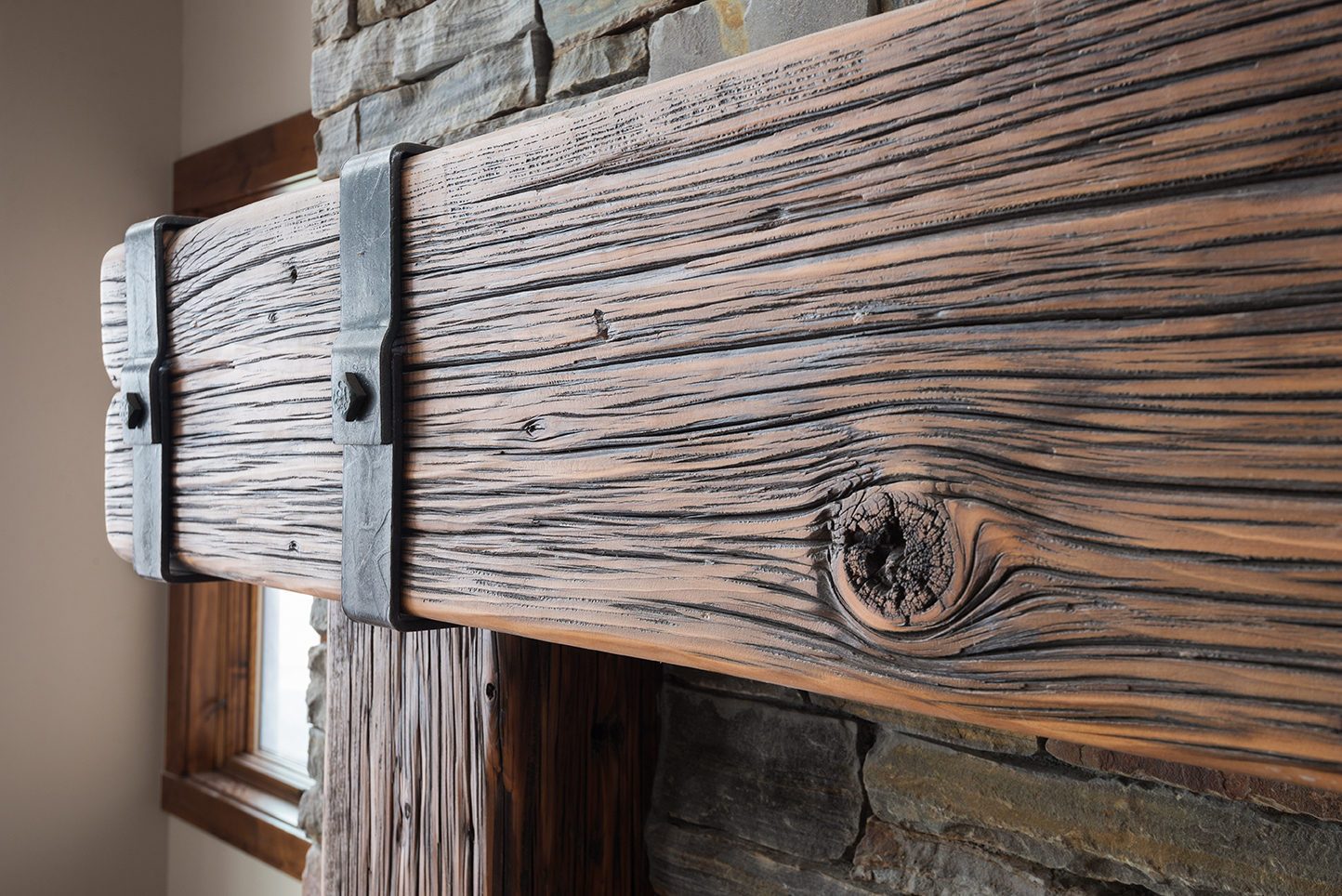 Barnwood Fireplace Mantel