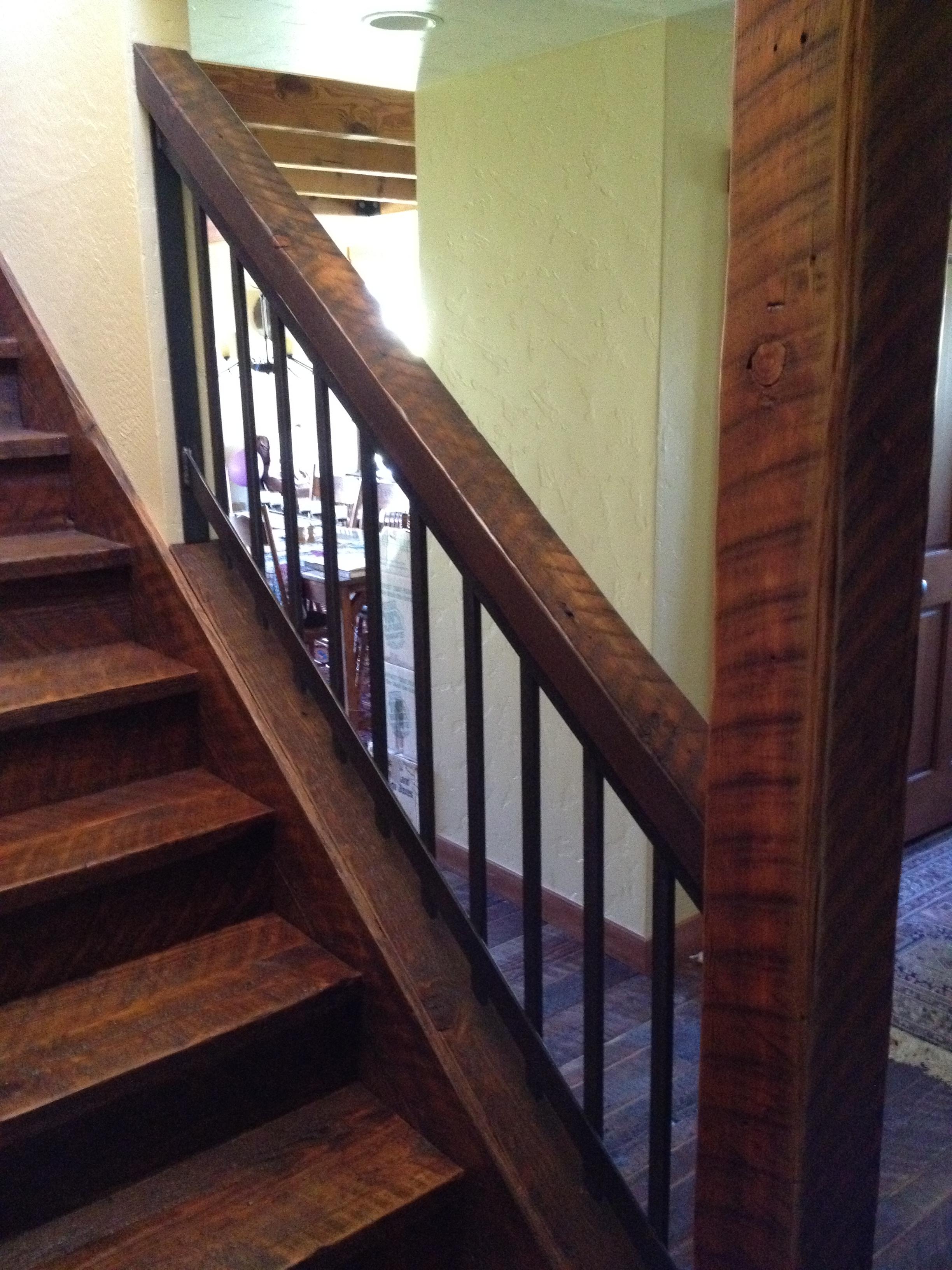 Barnwood Stairway Beams