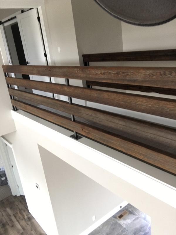 Barnwood Stairway Railing
