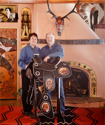 Lisa & Loren with the Big 5 Saddle and a Sacred Skull.  Click a thumbnail below for a slideshow