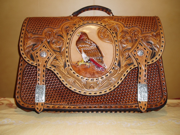 Red Tail Hawk Briefcase…  SOLD!  Click a thumbnail below to see a slideshow