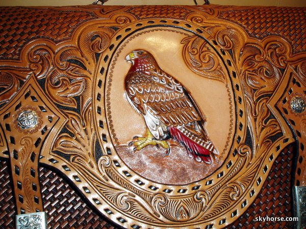 Red Tail Hawk Briefcase - detail