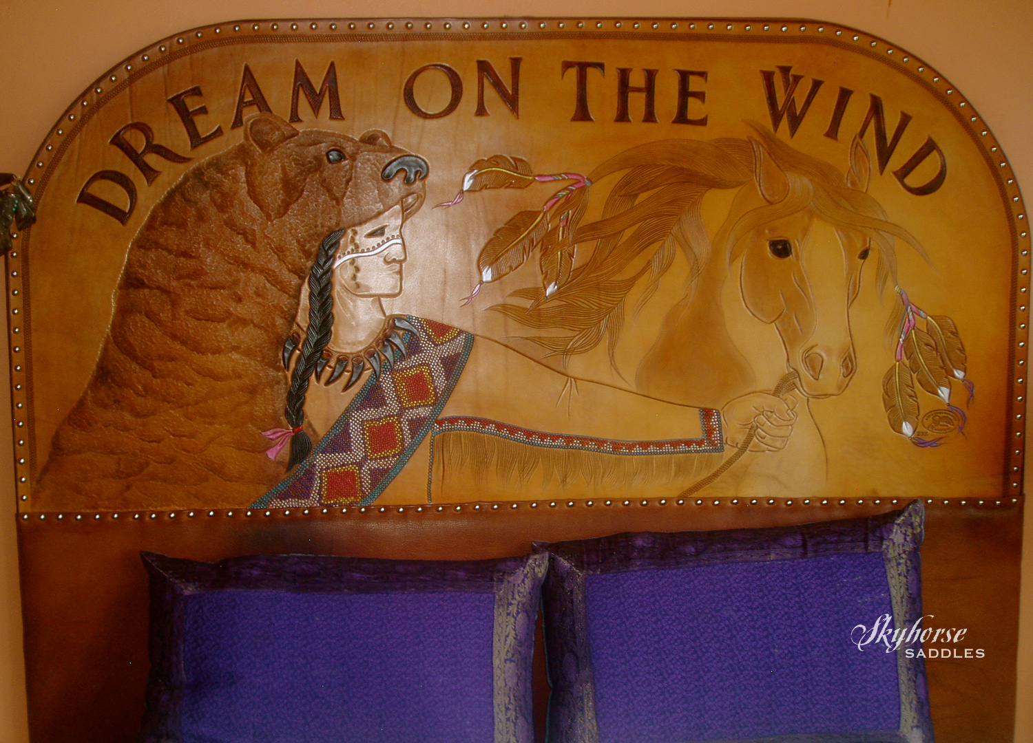 Dream on the Wind Headboard  Click to enlarge