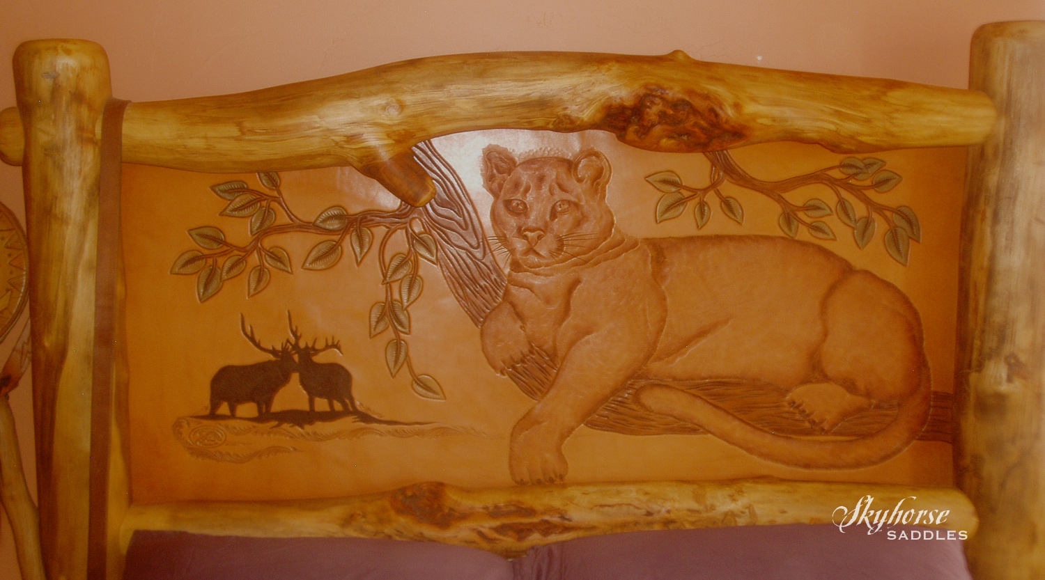 Mountain Lion Headboard  Click to enlarge
