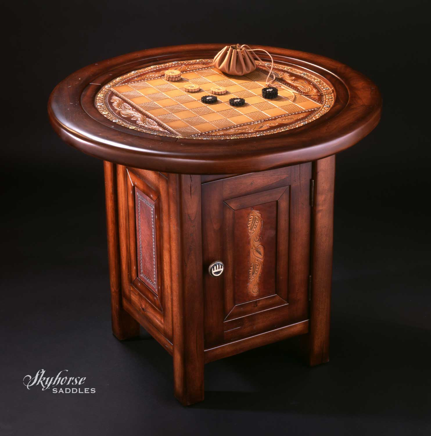 Leather Game Table  Click to enlarge