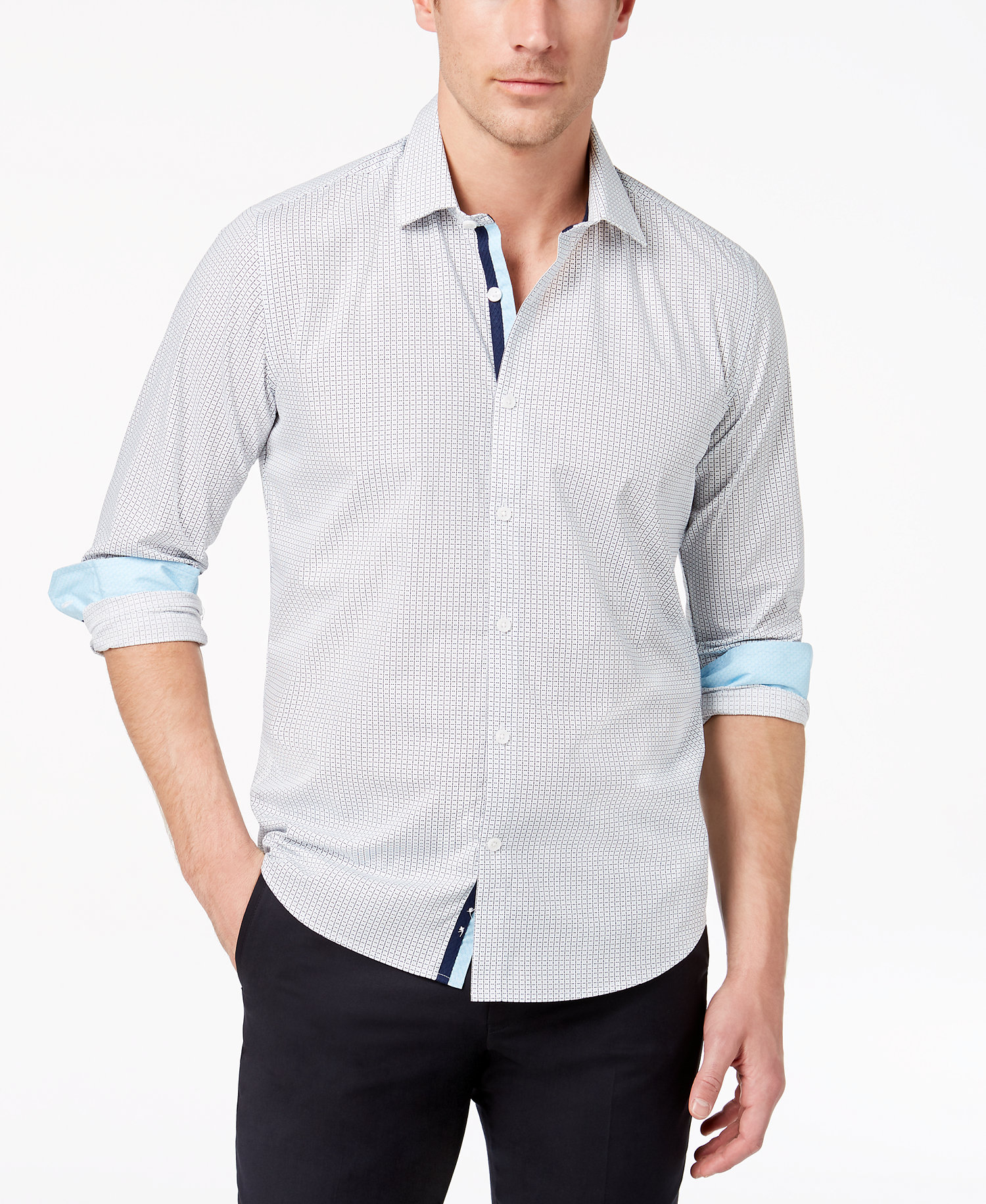 Mens SlimFit GeoPrint Shirt Created for Macys Ryan Seacrest Distinction White Geo Print 5739554 UXZQLIJ.jpg
